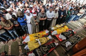 غزة تشيع جثامين شهداء التصعيد العسكري الاسرائيلي