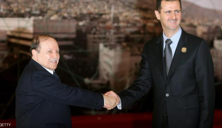 بوتفليقة للأسد: مرتاحون لمستوى علاقاتنا ونأمل انفراج الأزمة في سوريا