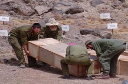 الاحتلال يدفن اربعة شهداء من الضفة الغربية في مقابر الأرقام