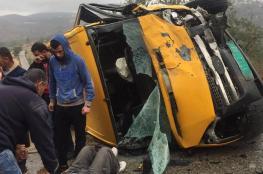 11 اصابة في حادث سير مروع غرب رام الله