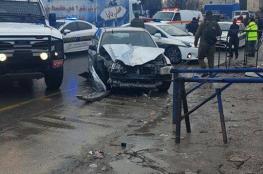 اصابة 4 مواطنين بجراح بعد ان تعمدت شرطة الاحتلال الاصطدام بهم في الخليل