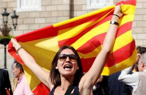 مظاهرات في كاتلونيا تؤيد الانفصال عن اسبانيا