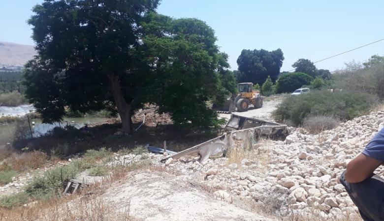 الاحتلال يردم 3 برك مياه زراعية في الجفتلك