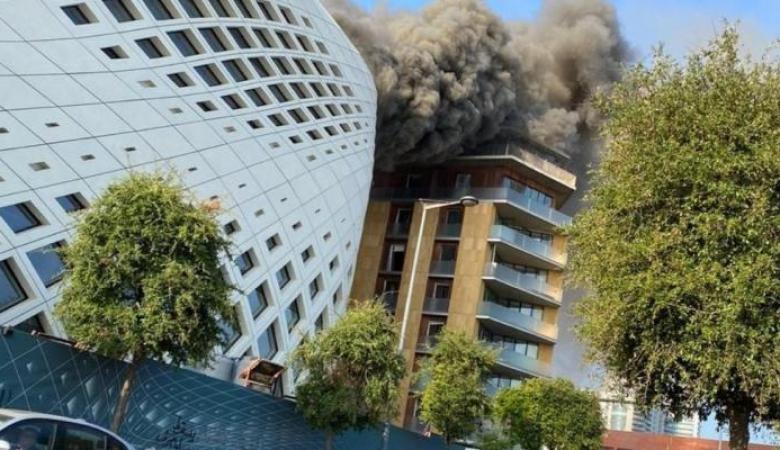 اندلاع حريق جديد بالحي التجاري في بيروت