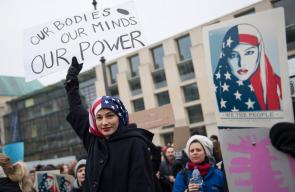 تظاهرات نسائية ضد ترامب