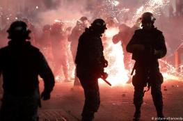 اصابات في مواجهات عنيفة بين المتظاهرين والقوى الامنية في بيروت