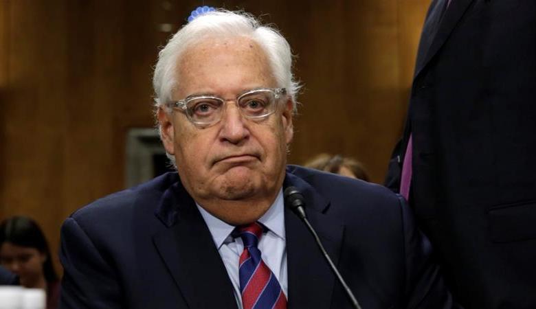 سفير واشنطن في تل أبيب يكشف عن خطة سلام جديدة