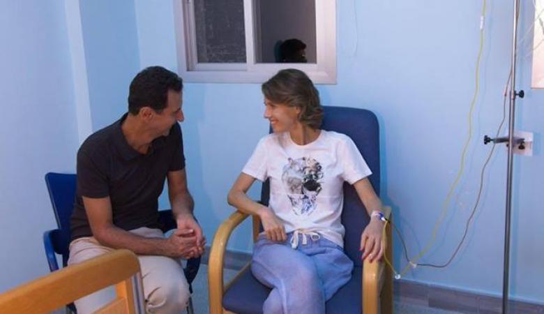 الرئاسة السورية تعلن اصابة زوجة بشار الأسد بالسرطان