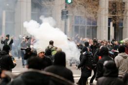 """توقيف نحو """" 100 """" شخص في مظاهرات مناهضة """"لترامب """""""