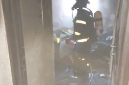 اصابة طفلين بجراح حرجة جدا في حريق اشتعل بمنزل في الخليل