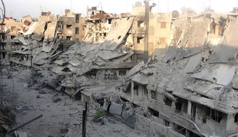 روسيا ترسل مواد بناء لاعادة بناء تجمعات سكانية في سوريا