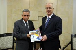 الحمد الله يتسلم التقرير السنوي لصندوق تطوير وإقراض الهيئات المحلية