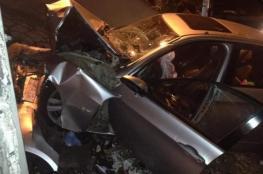 وفاة مواطن واصابة 4 آخرين في حادث سير مروع جنوب نابلس