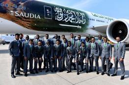 بالصور: المنتخب السعودي ينجو من كارثة جوية بروسيا