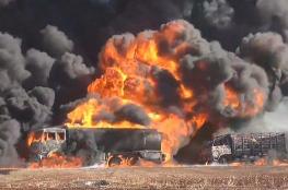 """قتلى وجرحى في استهداف لرتل عسكري امريكي في سوريا """"صور """""""