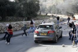 إصابة مستوطن بعد رشق مركبته بالحجارة قرب حوارة