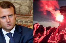 الرئيس الفرنسي عن المتظاهرين في باريس : يريدون نشر الفوضى والخراب