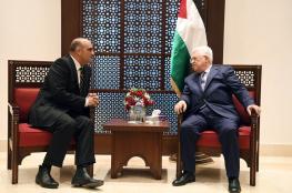 الرئيس يلتقي بوزير الشؤون الخارجية الاردني في بيت لحم
