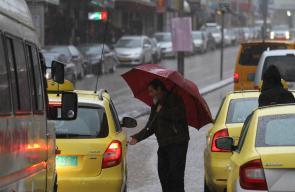 أجواء الشتاء في مدينة الخليل.