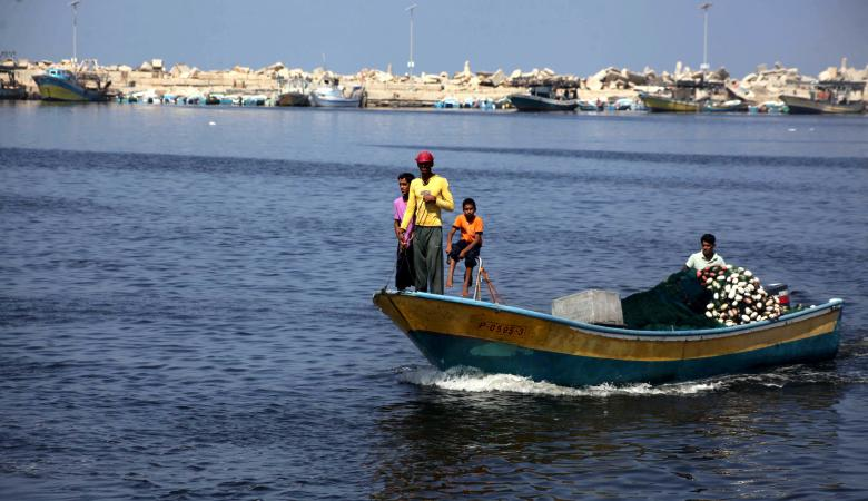 اسرائيل تعيد فتح بحر غزة امام الصيادين