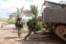 اجراءات عسكرية اسرائيلي على حدود غزة في اعقاب عملية القنص