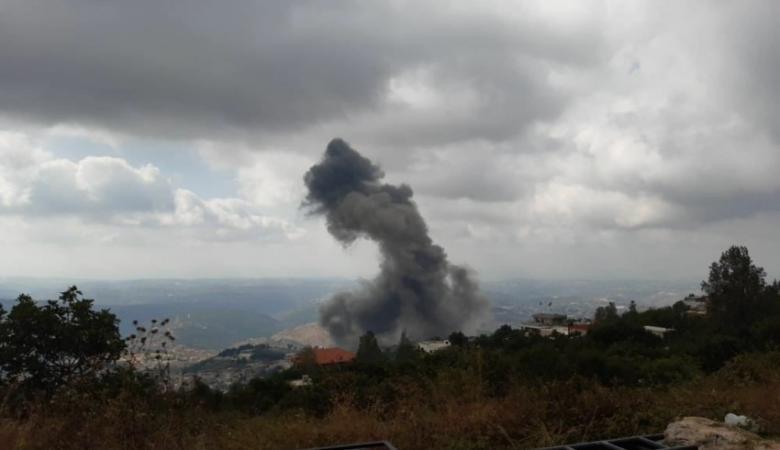 انفجار ضخم في بلدة عين قانا جنوب لبنان