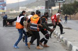 7 إصابات بالرصاص المطاطي خلال مواجهات على حاجز حوارة جنوب نابلس