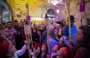 جانب من أجواء شهر رمضان المبارك في حي باب حطة في البلدة القديمة من مدينة القدس