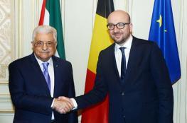 جلسة مباحثات بين الرئيس ورئيس وزراء بلجيكا