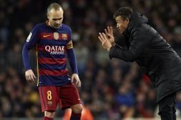 بعد فشله ...رئيس برشلونة وأنيستا يدعمان أنريكي