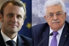 بدء اجتماع الرئيس عباس ورئيس فرنسا في باريس