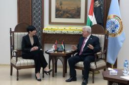 الرئيس يستقبل وزيرة خارجية النرويج في رام الله