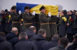 تشييع جثامين 11 اوكرانيا من ضحايا الطائرة المنكوبة التي اسقطتها ايران قبل ايام