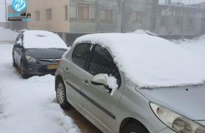 الثلوج تهطل على مناطق شمال فلسطين المحتلة وجبل الشيخ