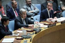 """امين عام الامم المتحدة : """"غير قادرين على جمع الرباعية الدولية بشأن فلسطين """""""