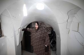 تشققات منازل الفلسطينيين جراء الحفريات أسفل المسجد الأقصى