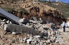 جرافات الاحتلال تهدم منزلا شرق مدينة الخليل