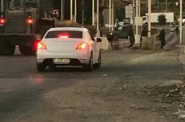 """اغلاق حاجز """" بيت ايل """" شمال رام الله بالمكبعات الاسمنتية"""