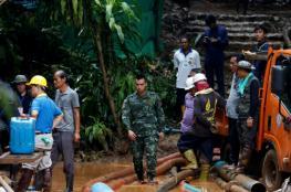 فريق كرة قدم تغمره المياه وتحاصره 9 أيام داخل كهف
