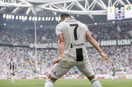 رونالدو يكسر النحس ويسجل أول هدفين في الدوري الايطالي