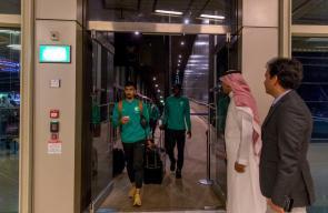 بعثة  المنتخب السعودي تصل الاردن في طريق وصولهم الى رام الله لمواجهة المنتخب الفلسطيني