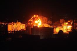 غارات اسرائيلية مكثفة على قطاع غزة