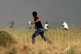 اهالي برقة يتصدون لهجوم للمستوطنين