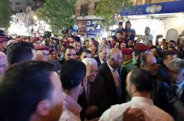 الرئيس يتفقد الأسواق ويلتقي المواطنين في رام الله