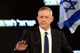 غانتس : لن اشارك في حكومة تضم نتنياهو