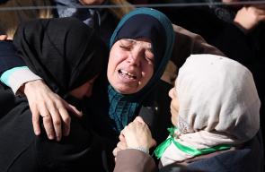 تشييع جثمان الشهيد حسين سالم أبو غوش  في مخيم قلنديا