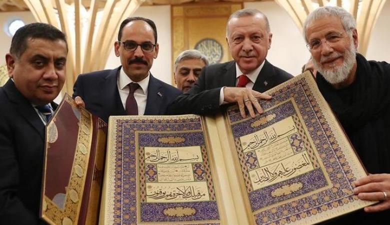 الرئيس التركي أردوغان يتصدر قائمة اكثر الزعماء المسلمين شعبية في العالم