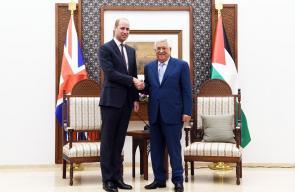 جانب من لقاء الرئيس عباس بالامير البريطاني وليام في رام الله