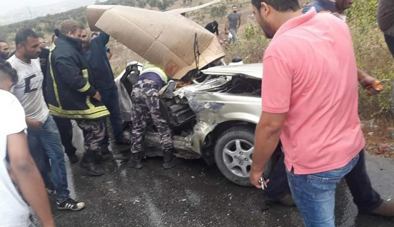 وفاة 3 مواطنين في حادث سير مروع جنوب جنين