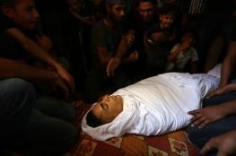 """جماهير غزة تشييع جثمان الشهيد """"ساهر  عثمان """""""